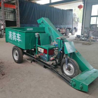 养殖场出粪车 润丰 使用清粪车工作视频 大型四轮出粪车