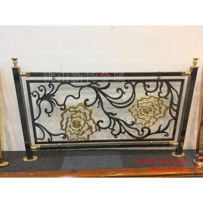 宜阳24K金铝板雕刻楼梯护栏 全新铝艺护栏生产
