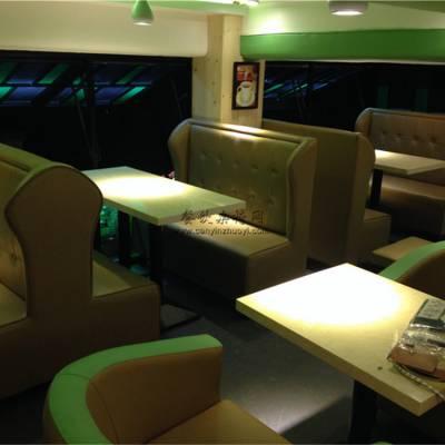 仁化市卡座沙发定做,甜品店沙发桌子组合