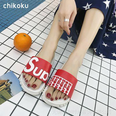 夏季拖鞋情侣女士韩版一字拖居家室内洗澡浴室防滑外穿凉拖鞋男夏