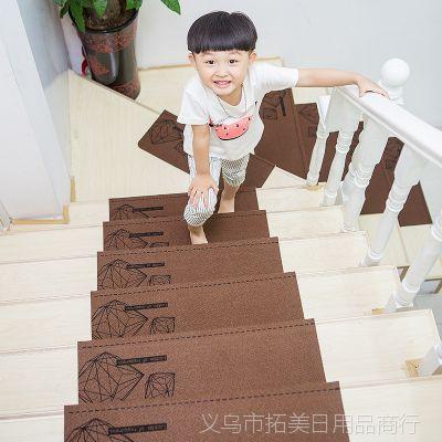 田园实木楼梯垫免胶自粘楼梯地垫防滑吸水脚垫进门地垫门垫