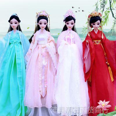 一件代发中国贵妃古装套装洋娃娃玩具衣服装三生三世白浅女孩生日