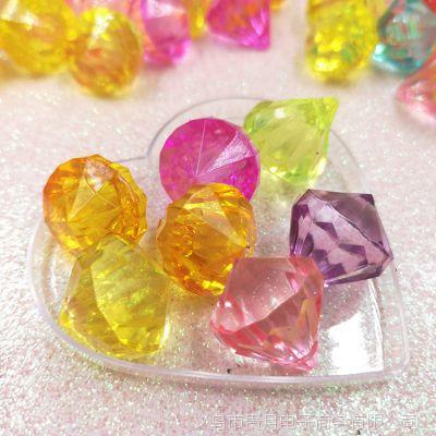 塑料亚克力珠子穿孔仿水晶门帘珠diy手工串珠转运球材料钻石吊坠