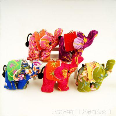 泰国工艺品布艺小象钥匙扣背包装饰品挂饰开学季送老师同学小礼物