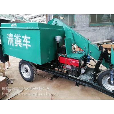 行走在牲口棚清粪车 新款式节能推粪机 1.5立方料斗刮粪车