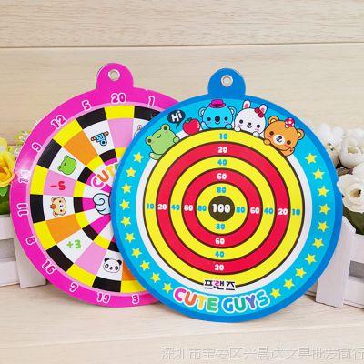 儿童卡通飞镖盘套装休闲比赛标盘磁性吸力飞镖靶儿童互动益智玩具