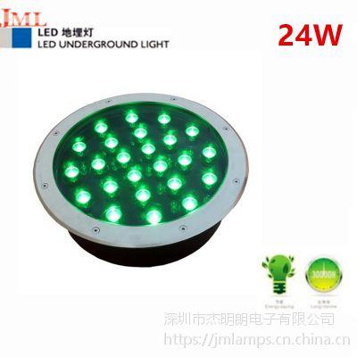 深圳品质厂家杰明朗 JML-UL-A24W LED防水嵌入式 地埋灯24W