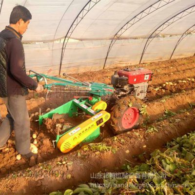 12 18马力手扶拖拉机带土豆红薯收获机 运输型手扶拖拉机