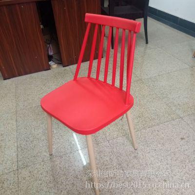 倍斯特简约现代小清新金属餐椅创意中餐快餐厂家定制