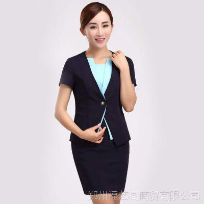 夏款移动公司女装工作服 厂家批发短袖包裙职业套装定制西服套装