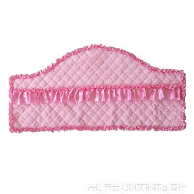 定做欧式防尘床头罩实木皮床头靠背套1.8m1.5m软包布艺保护罩弧形