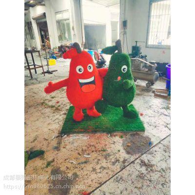 春花节大型主题绿雕造型 花瓣绿雕 四川成都园林景观厂家