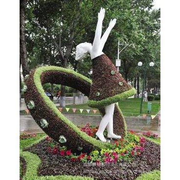 立体花坛景观雕塑造型 大型植物绿雕 四川绿雕厂家