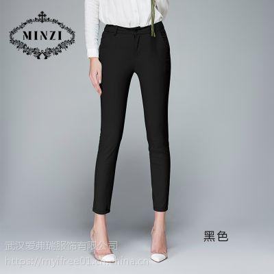 女生做服装拿货价菂诺弹力职业修身牛仔裤