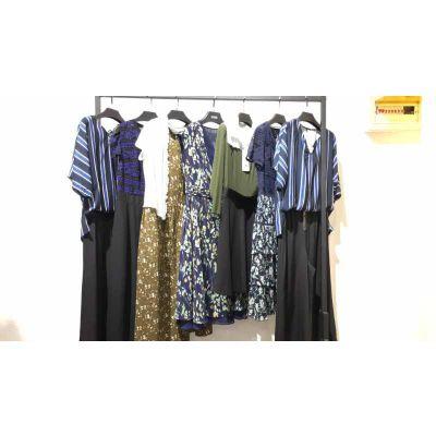 品牌夏装 菲尔 服装大全吾贝卡多种款式折扣女装加盟欧美中等女装批发货源
