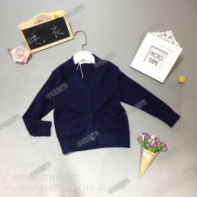 2018秋季尾货儿童韩版毛衣针织开衫套头衫走份批发