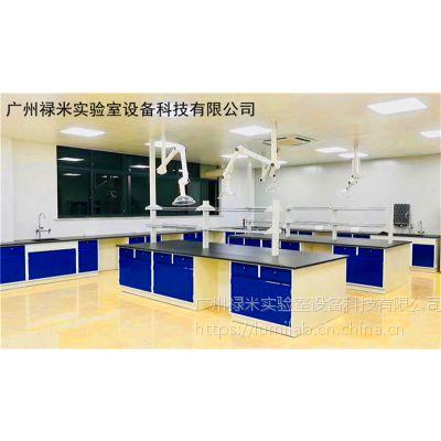 禄米实验室生产全钢结构带试剂架实验台