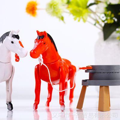 创意电动仿真拉磨小马地摊货热销儿童小礼品好玩的新奇玩具批发