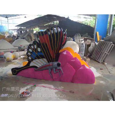 宁波儿童戏水设备施工 儿童蝴蝶滑梯设备定做