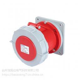 启星QX-1128 5芯63A防护IP67暗装直插座经济型防水
