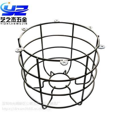 深圳不锈钢防爆网罩 钢丝防爆网罩 铁线防护罩定制