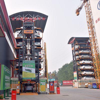 移动式充电桩在垂直循环立体车库上的完美应用