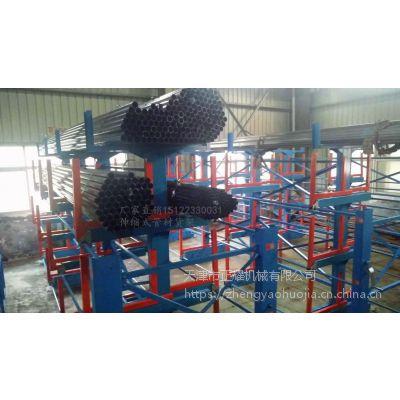 湖北管材库货架特点 伸缩悬臂货架厂家 高承重 存取方便安全