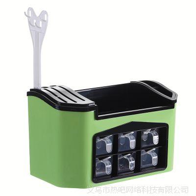 厨房用品置物架塑料碗架碗碟收纳架沥水碗碟架整理碗架调料盒批发