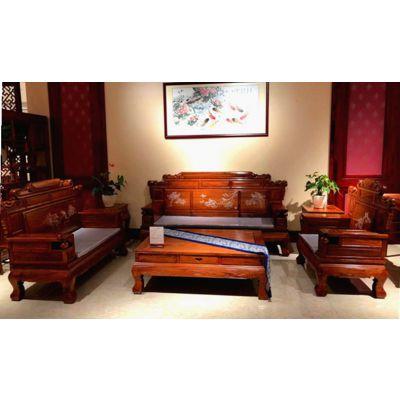 刺猬紫檀红木家具沙发价格实惠厂家 名琢世家