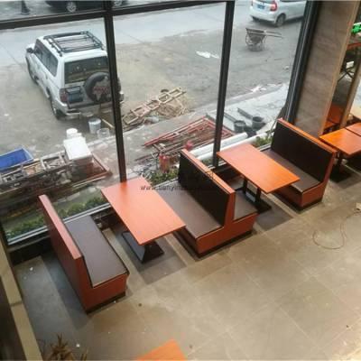 毕节茶餐厅卡座沙发,时尚板式卡座沙发桌子组合