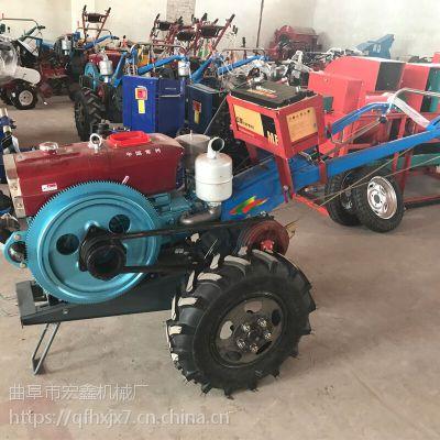 农用手扶拖拉机带挠地机 手扶旋耕机耕田机 大棚果园犁地机