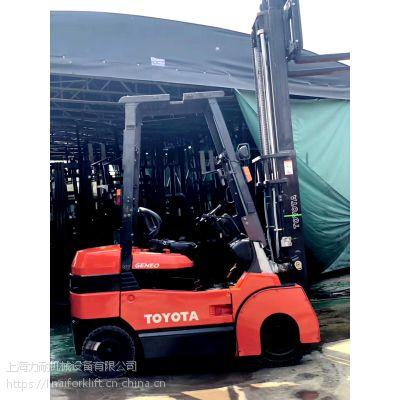 供应日本进口原装 丰田3.5吨二手电动叉车 四轮座驾式搬运车