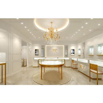 珠宝展示柜制作厂家 商场专柜珠宝柜台设计 现代珠宝展柜制作定做