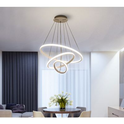 幻電led餐厅吊灯现代简约三头客厅灯小餐桌吧台灯具