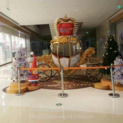 泡沫南瓜马车雕塑 商场圣诞节泡沫雕塑摆件
