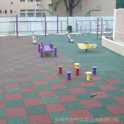 玉林市红绿组合弹性橡胶地砖价格 现货3.0cm地砖价格