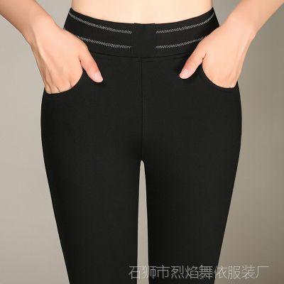 夏天打底裤外穿纯棉小脚长裤大码中年妇女裤子弹力妈妈紧身裤薄款