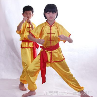 儿童武术表演出服装短袖少儿中国功夫练功服男女童幼儿舞蹈演出服