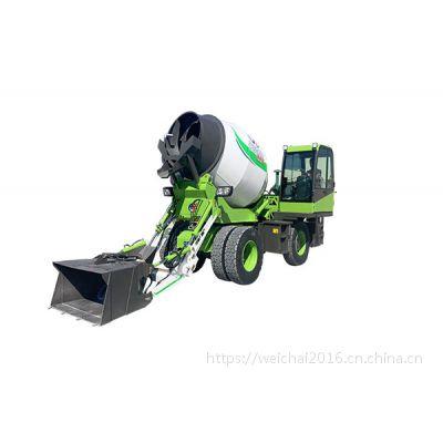 甘肃3.2立方混泥土移动运输搅拌罐车价格 自上料滚筒式搅拌车