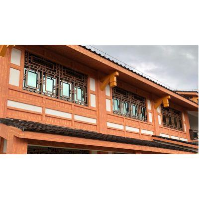 外墙铝合金花格窗 中式仿古铝花格窗