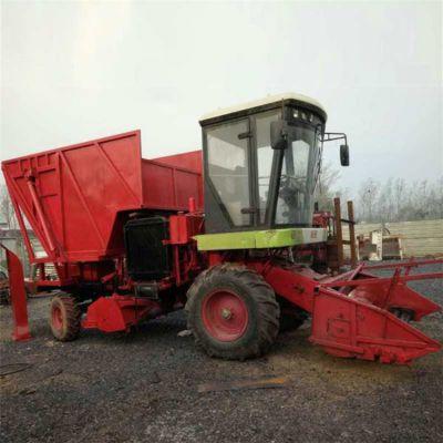 大型玉米秸秆青储收割效率高 多功能黑麦草青贮粉碎收割机