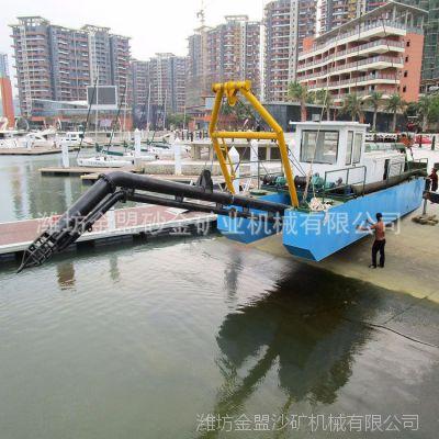 陕西抽沙船工作现场视频 陕西咸阳300立方射流式抽沙船厂家造价