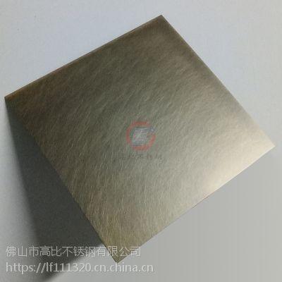 高比乱纹青古铜不锈钢装饰板 不锈钢镀铜乱纹板 佛山镀铜厂家