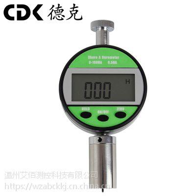 德克 CDKLX数显邵氏A型硬度计广泛应用于中低硬度塑料、各类橡胶、多元脂、皮革、蜡等的硬度测试。