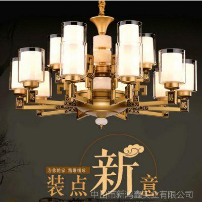 美式吊灯现代简约全铜灯具家用客厅灯大气简欧餐厅卧室灯北欧风格