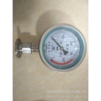 卡盘式隔膜压力表YTP-100(卫生型隔膜压力表)