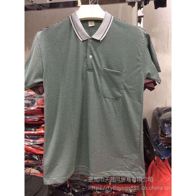 广西大量中老年翻领T恤衫 老人服装批发 时尚POLO衫一手货源