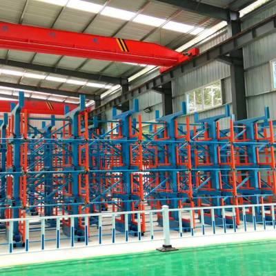 杭州钢材储存架 伸缩悬臂货架特点 机械操作存取 高效安全