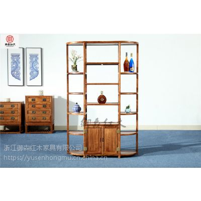 红木酒柜-刺猬紫檀家具-古典中式花梨木家具-浙江御森红木家具生产