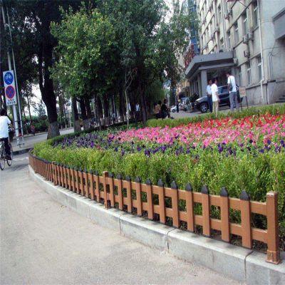 仿木护栏 木纹施工护栏 绿化带隔离栏杆